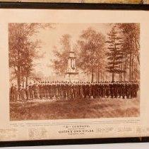 "Image of ""K"" Company at Fenian Raid Memorial 1883"