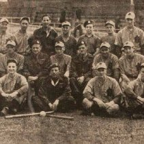 Image of The QOR of Canada Baseball Team, Holland 1945. Canadian army champions and Canadian armed forces champions -