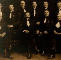 Image of Officers of The QOR Sergeants' Mess 1913 -