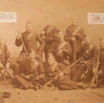 Image of Rifle Team, Commanded by Capt. DA Allen (later Lt.Col, 5th Commanding Officer 1887-1889) -