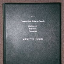 Image of The Queen`s Own Rifles of Canada Regimental Executive Committee Minute Book  - Book, Record