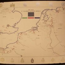 Image of 00423 - War Map 3rd Canadian Infantry Division June 1944-May 1945