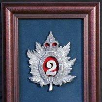 Image of Framed Pewter QOR Badge -
