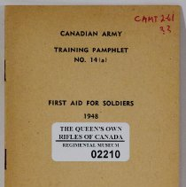 Image of Canadian Army Training Pamphlet No 14 A First Aid for Soldiers - 1948/  /