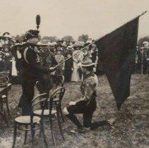 Image of Sir Henry Pellatt Presents flag to Boy Scouts 1910 - 1910/  /