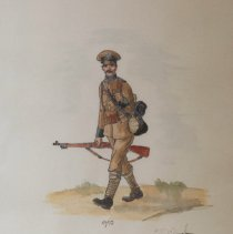 Image of Watercolour of a QOR Soldier 1910      - 1980/  /