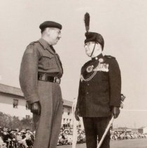 Image of Lt Col CP McPherson and Hon Col Baptist Johnston -