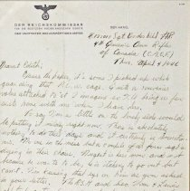 Image of RFN Underhill WWII letters - Letter