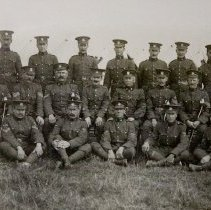 Image of Major J.O. Thorn and Quartermaster's staff, 1910 - 1910/  /
