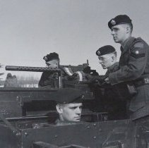 Image of QOR Machine Gun Platoon in Bren Gun Carrier -