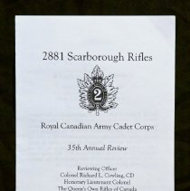 Image of 2881 Scarborough Rifles Royal Canadian Army Cadet Corp 35th Annual Review - 2006/05/28