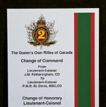 Image of The Queen's Own Rifles of Canada Change of Command - 2011/09/24