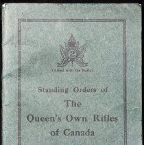 Image of Standing Orders of the Queen's Own Rifles of Canada - 04705