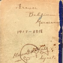 Image of Elmer G. McKay WWI Diary Back Cover