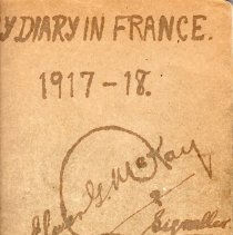 Image of Elmer G. McKay WWI Diary Front cover