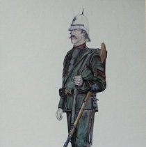 Image of Watercolour Print of a QOR Sergeant in 1890s -
