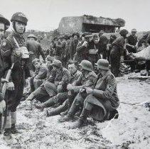 Image of B/W German Prisoners Post D-Day -