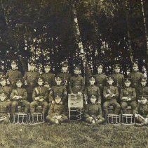 Image of Queen's Own Rifles Bugle Band at Aldershot in 1910 - 1910/  /