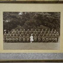 Image of 1st Battalion The Queen's Own Rifle with HRH Queen Mary 1941