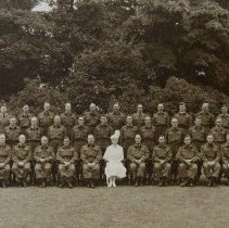 Image of 1st Battalion The Queen's Own Rifle with HRH Queen Mary 1941 - 1941/  /
