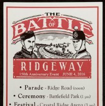 Image of Battle of Ridgeway 150 Anniversary Event Flyer 2016
