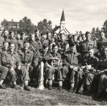Image of Queen's Own Rifles Band in Grand Falls, Newfoundland, 1940 - 1940/  /