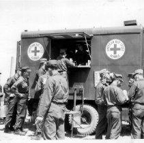 Image of American Red Cross Vehicle in Korea - 1955/  /