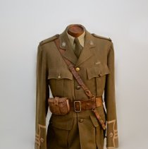 Image of WWI Era Upper Canada College Cadet Khaki Tunic -