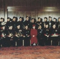 Image of The QOR Band with Colonel in Chief, November 1985 - 1985/11/