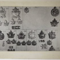 Image of Related Cap and Collar Badges  - 1959/06/