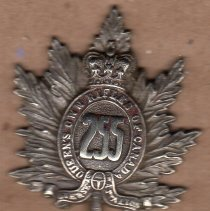 Image of 255th Bn CEF Collar Badge -