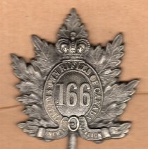 Image of 166th Bn CEF Cap Badge -