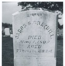 Image of Graybill Family Tombstones - Four photographs (2 color) of Graybill family tombstones in the Lost Creek Cemetery and elsewhere.