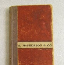 Image of A. McPherson daybook