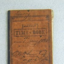 Image of A. McPherson time book 1890
