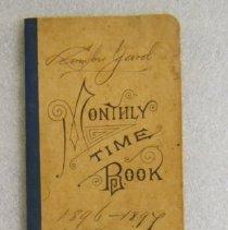 Image of McPherson lumberyard time book