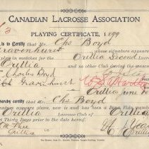 Image of Player certificate