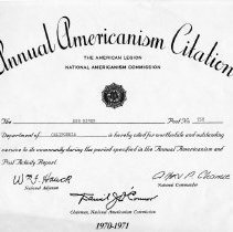 Image of 1973-158-1232 - Certificate