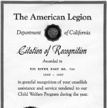 Image of 1973-158-1236 - Certificate