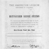 Image of 1973-158-1238 - Certificate