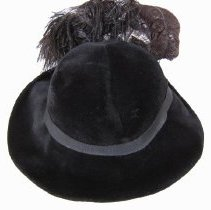 Image of Black felt hat