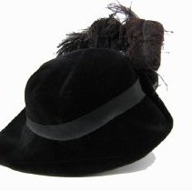 Image of Black velvet hat