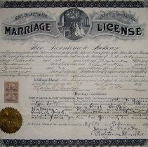 Image of Marriage License for Arthur Biggers and Effie Switzer