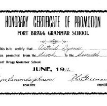 Image of Certificate of Promotion