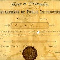 Image of 1991-083-023 - Diploma