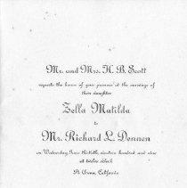 Image of 1991-083-040 - Invitation