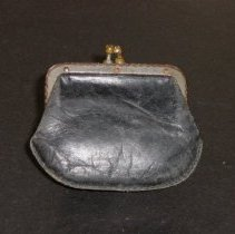 Image of Black coin purse