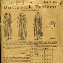 Image of Butterick Pattern for Ladies Pleated Dress