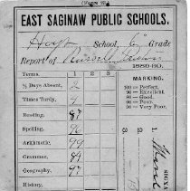 Image of Report Card for Russell Preston