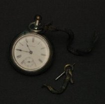 Image of Workman's keywind pocket watch
